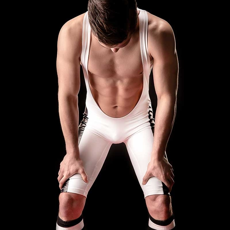 BARCODE Berlin WRESTLER WET Trikot RAUL kinky 90809 body suit white