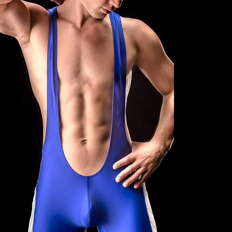BARCODE Berlin WRESTLER Trikot FRANCISCO premium 90843 body suit blue
