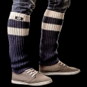 BARCODE Berlin BEIN STULPEN tube Leg WARMER 90875 player navy