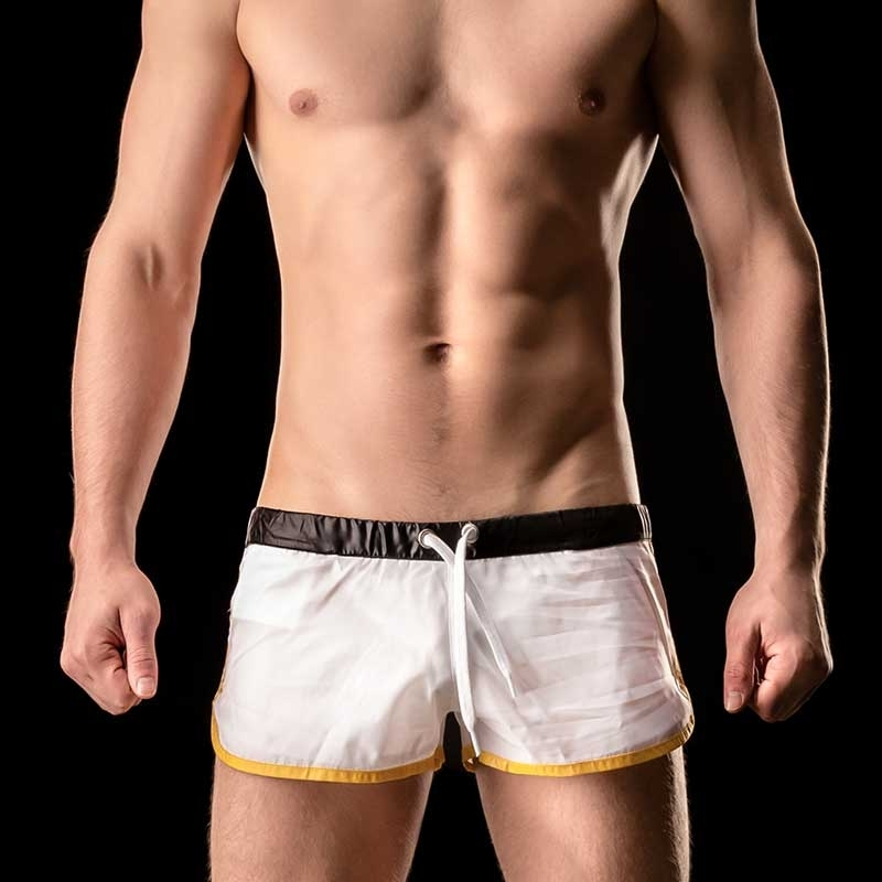 BARCODE Berlin SHORTS athletik ALBANE swim 90904 shinie weiss
