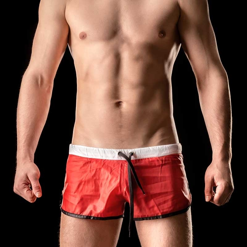 BARCODE Berlin SHORTS athletic ALBANE swim 90904 shinie red