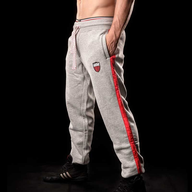 BARCODE Berlin GYM HOSE sweat pants MELVIN 90949 grey red