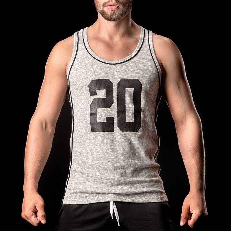 BARCODE Berlin TANK Top X-cut ELLIOT 90963 Muskelshirt black
