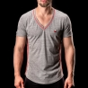 BARCODE Berlin T-SHIRT chill out LIAM casual 90964 V-Neck rot