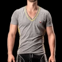 BARCODE Berlin T-SHIRT chill out LIAM casual 90964 V-Neck gelb