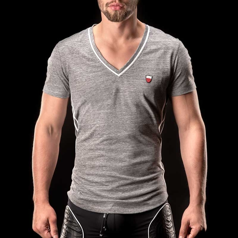 BARCODE Berlin T-SHIRT chill out LIAM casual 90964 V-Neck white
