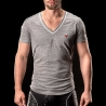 BARCODE Berlin T-SHIRT chill out LIAM casual 90964 V-Neck weiss