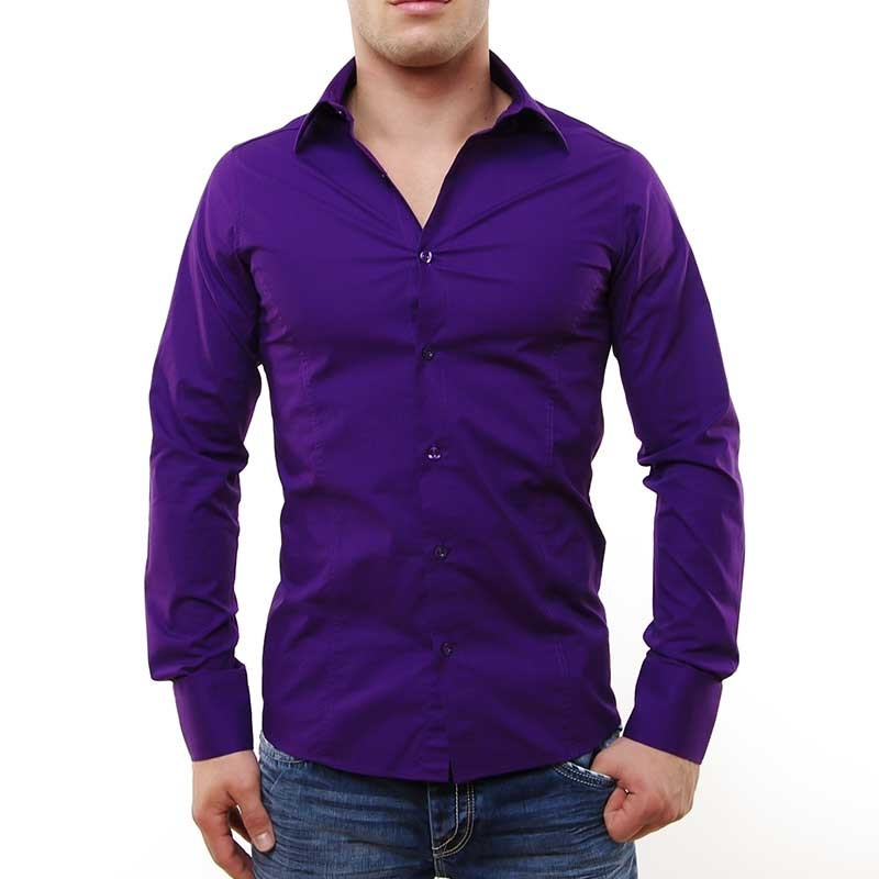 RED BRIDGE HEMD slim Fit R-2111 tailliert bodystyle violett
