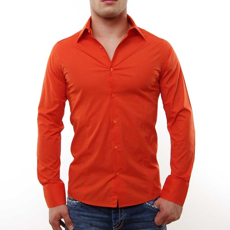 RED BRIDGE HEMD slim Fit R-2111 tailliert bodystyle coral