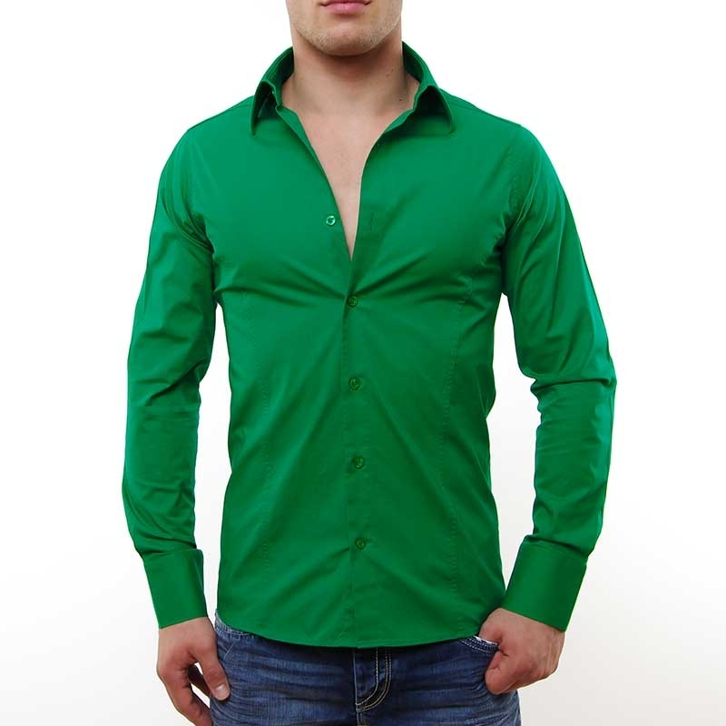 RED BRIDGE HEMD slim Fit R-2111 tailliert bodystyle green