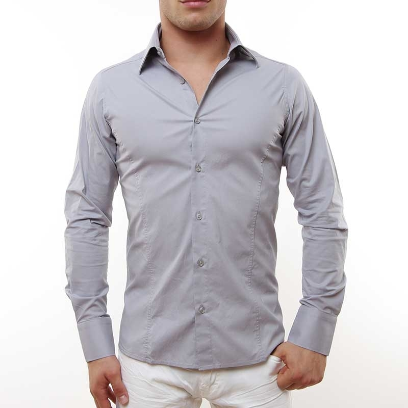 RED BRIDGE HEMD slim Fit R-2111 tailliert bodystyle grey