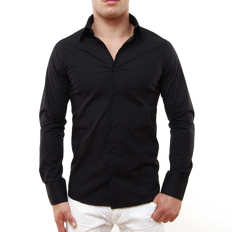RED BRIDGE HEMD slim Fit R-2111 tailliert bodystyle black