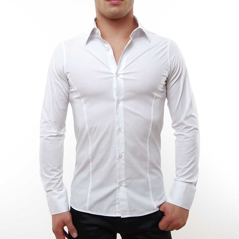 RED BRIDGE HEMD slim Fit R-2111 tailliert bodystyle white