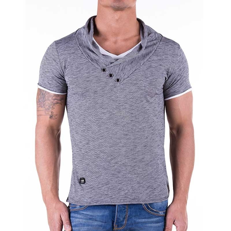 RED BRIDGE T-SHIRT R41223 with shawl collar