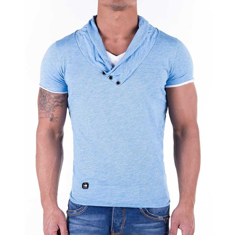 RED BRIDGE T-SHIRT regular Fit TUBE wear R41223 street blue