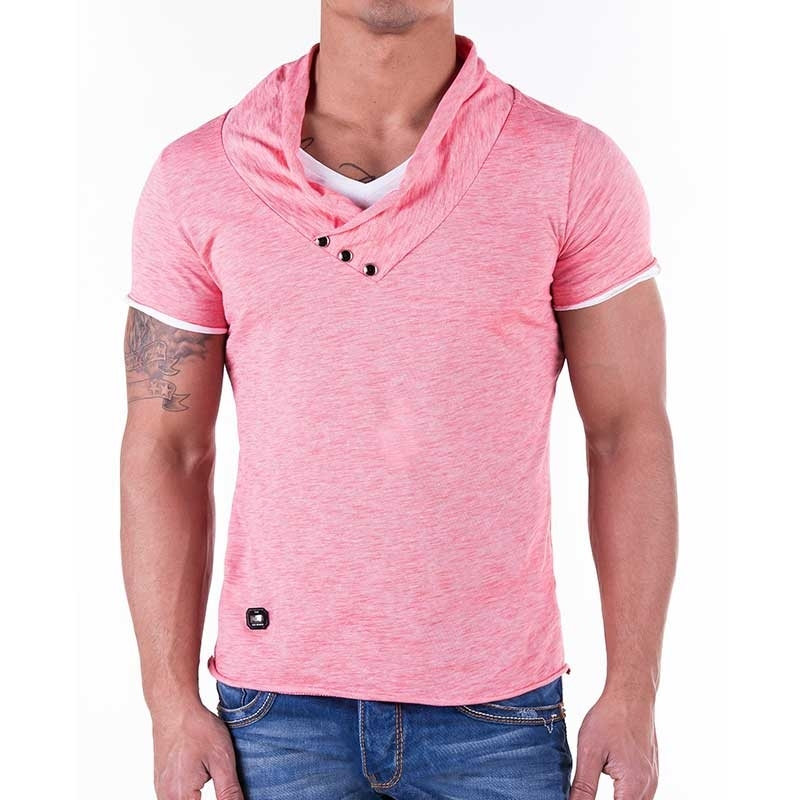 RED BRIDGE T-SHIRT regular Fit TUBE wear R41223 street coral red