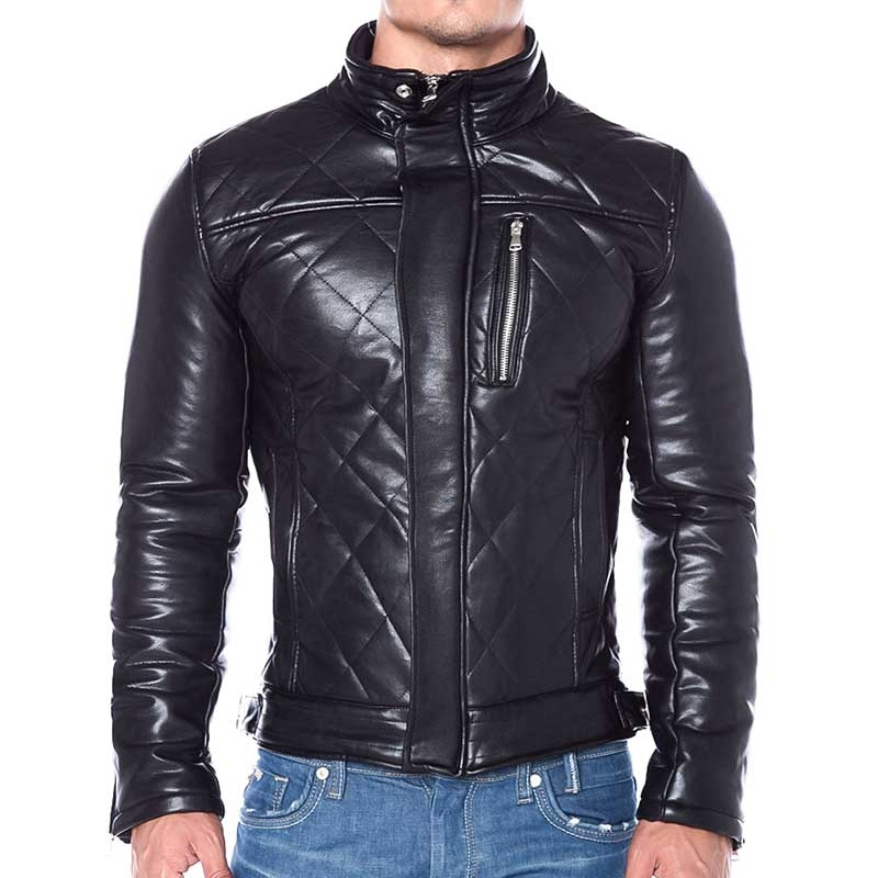 RED BRIDGE KUNSTLEDER JACKE Spencer Fit VIPER R41477 bikerlook black