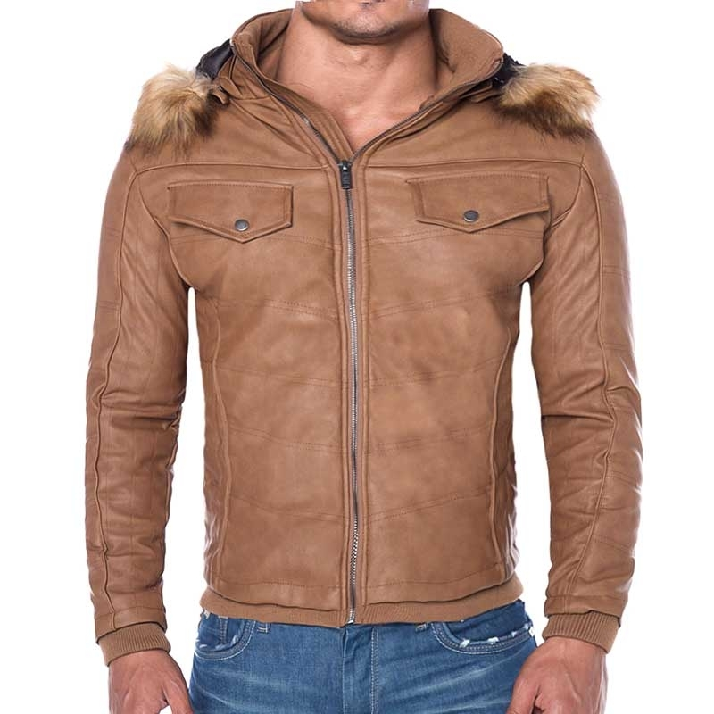 RED BRIDGE KUNSTLEDER JACKE slim SIMON Spencer Fit R41474 street brown