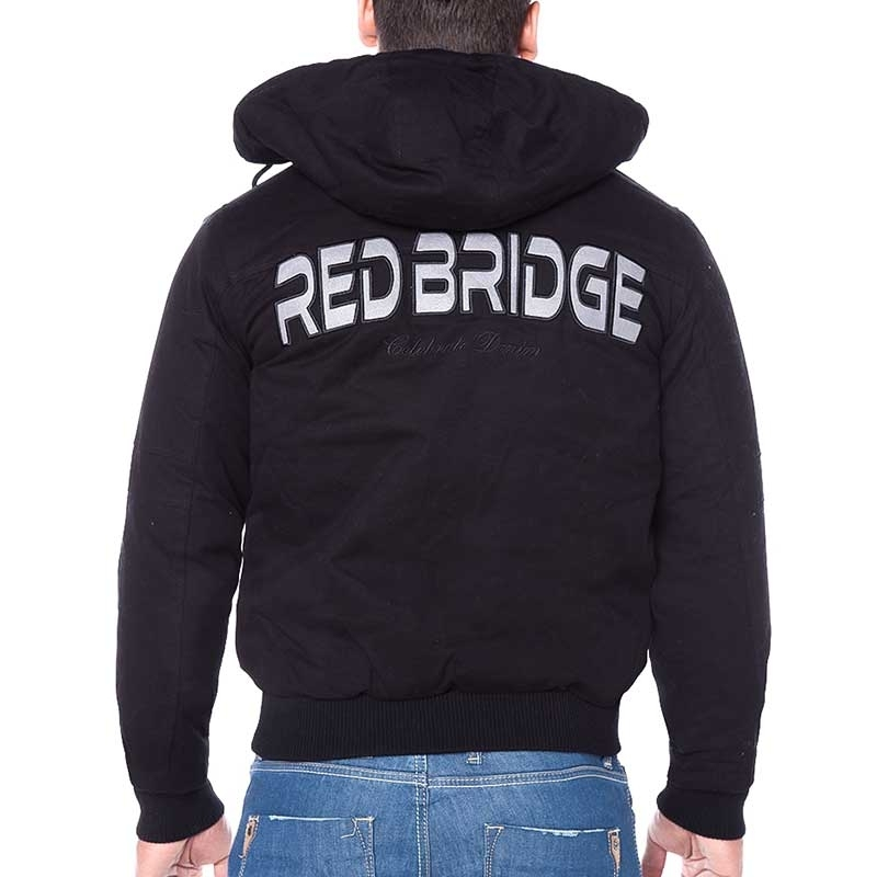 RED BRIDGE WINTERJACKE Blouson SPACE brand R31461 mit Kapuze black