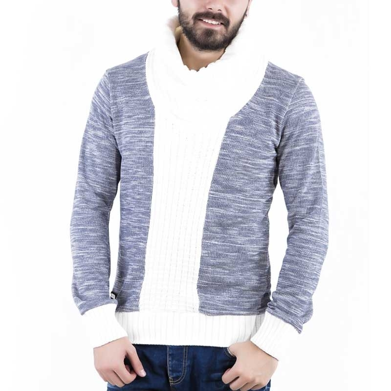 RED BRIDGE WINTERPULLOVER regular LIAM Schal R41375 strick streetwear blue