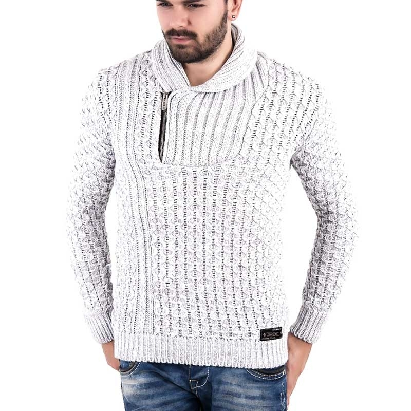 RED BRIDGE WINTERPULLOVER regular DANIEL heat R41506 zip strickwear grey