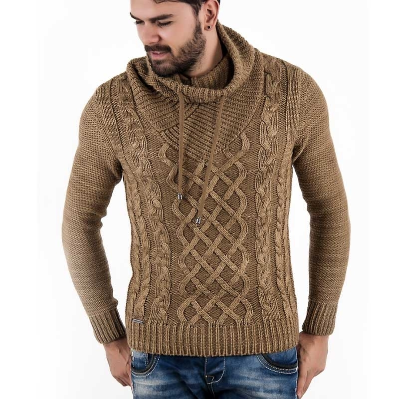 RED BRIDGE WINTERPULLOVER regular MATTHEW heat Wolle R41503 strickwear brown
