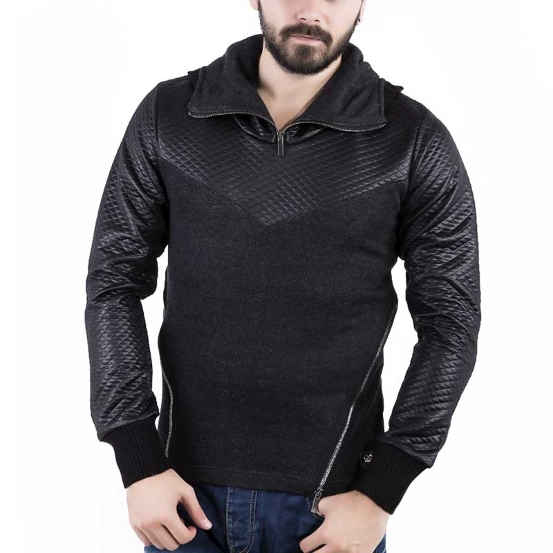 RED BRIDGE SWEATSHIRT casual HOODIE wet R41361 zip street blackstyle