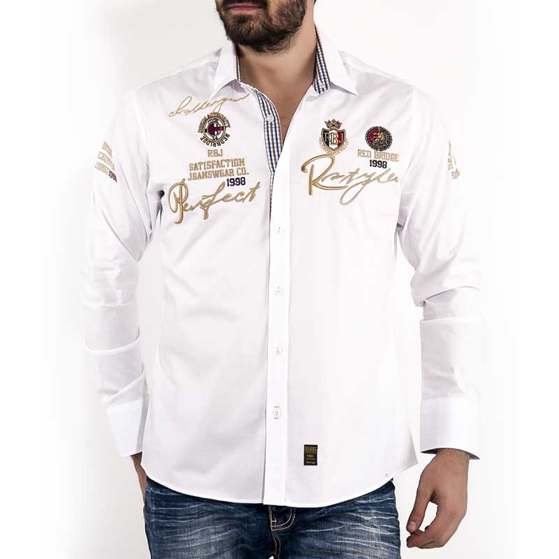 RED BRIDGE SHIRT R41609 embroidered signature