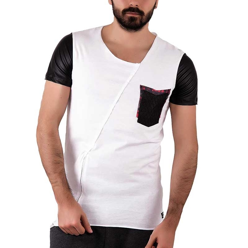 RED BRIDGE T-SHIRT regular FELIX used M1006 Zip wet langshirt white