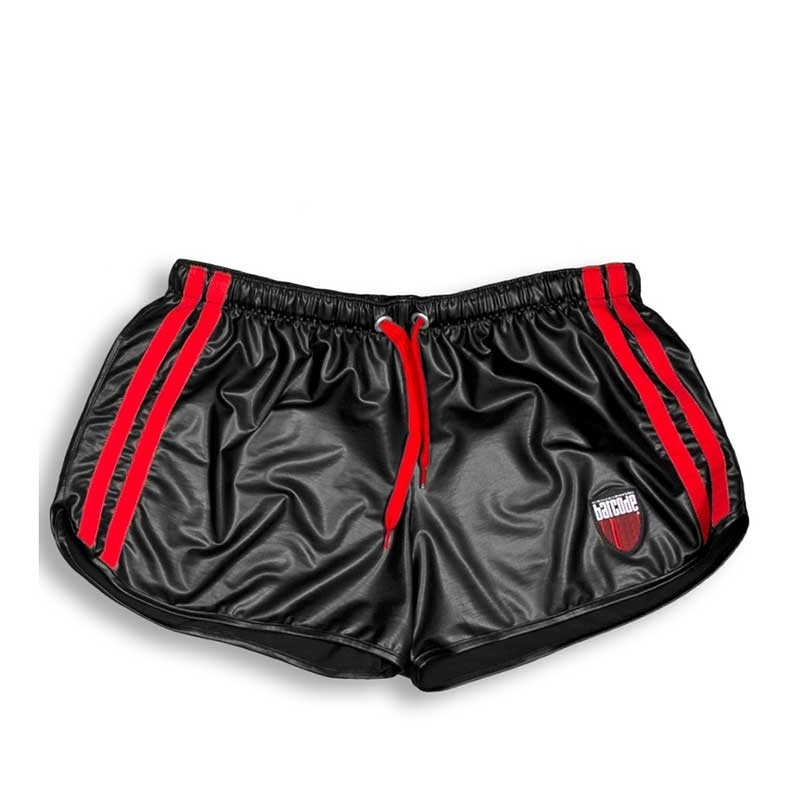 BARCODE Berlin SHORTS wet gym BYRON fight 91157 shiny blackstyle red
