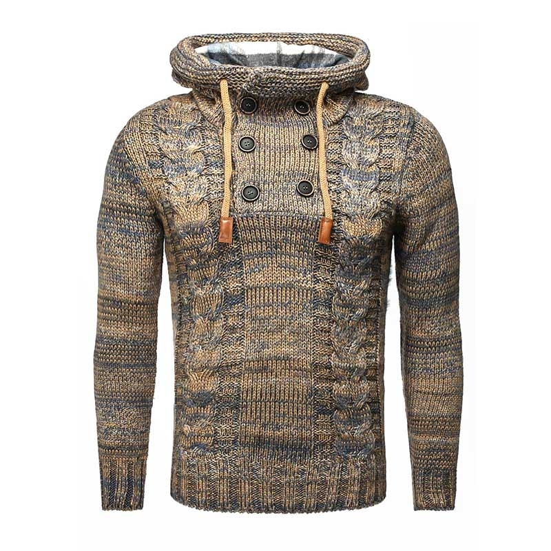 CARISMA PULLOVER regular AARON hoodie CRSM 7340 Wolle camel