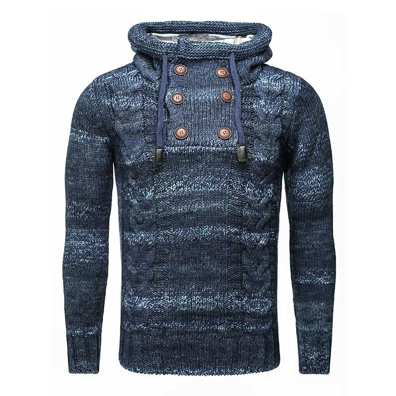 CARISMA PULLOVER regular AARON hoodie CRSM 7340 Wolle navy