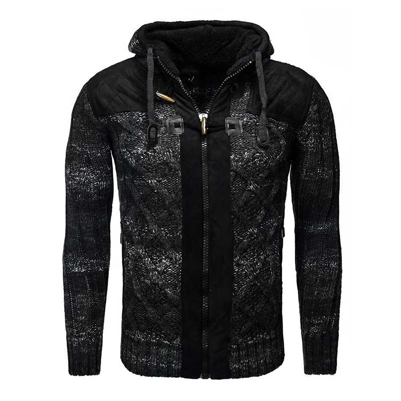 CARISMA SWEATJACKE regular MIAN hoodie CRSM 7342 Wolle black