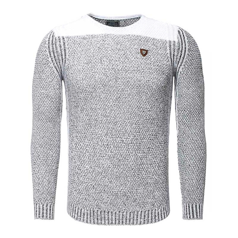 CARISMA PULLOVER regular PATRICK sling CRSM 7263 Wolle knitwear black white