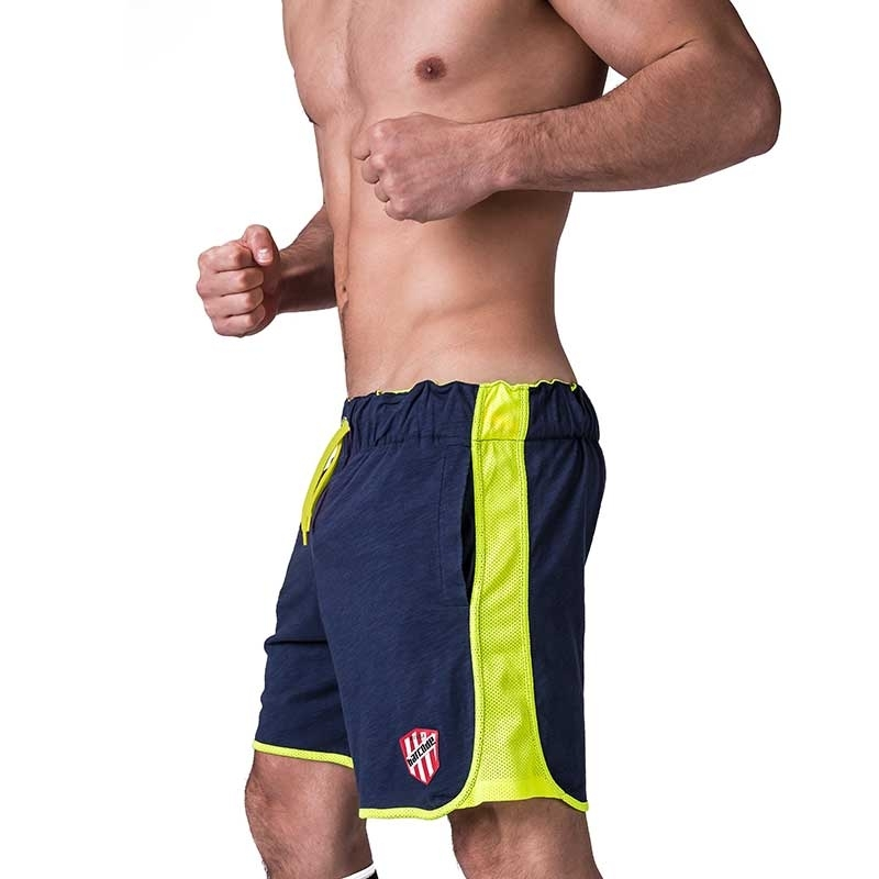 BARCODE Berlin SHORTS free time DRAKE casual 91239 neon mesh navy