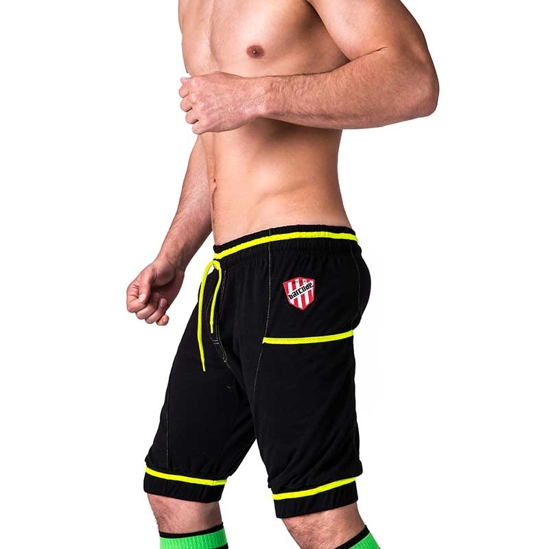 BARCODE Berlin SHORTS fitness MANFREDO player 91228 neon straps black