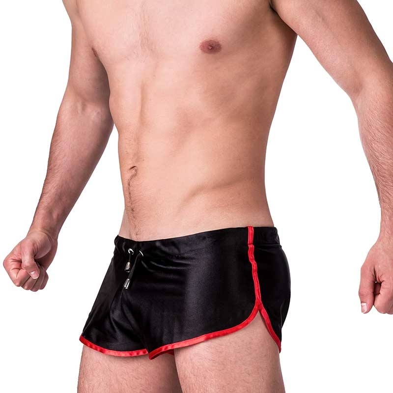 BARCODE Berlin SHORTS light SILVAIN shinie 91242 sport club Wear black red