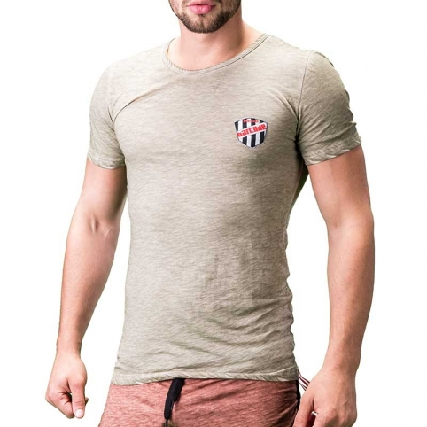 BARCODE Berlin T-SHIRT regular ALVIN lounge 91199 used look khaki