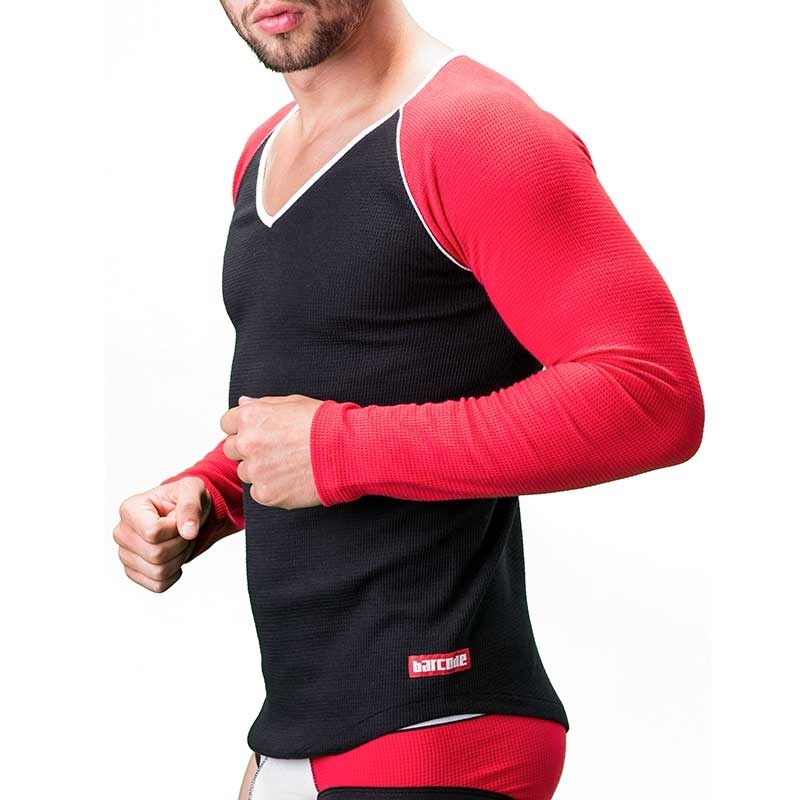 BARCODE Berlin SWEATSHIRT thermo 91190 Arm in rot
