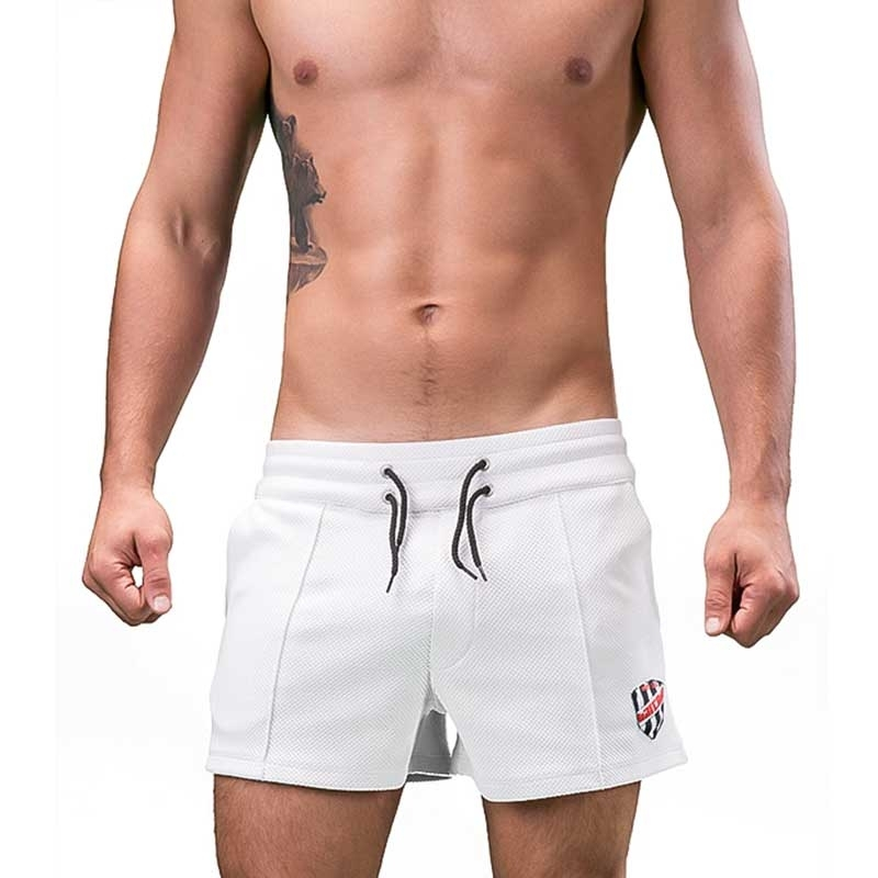 BARCODE Berlin SHORTS regular FEDERICO summer 91186 beach streetwear white