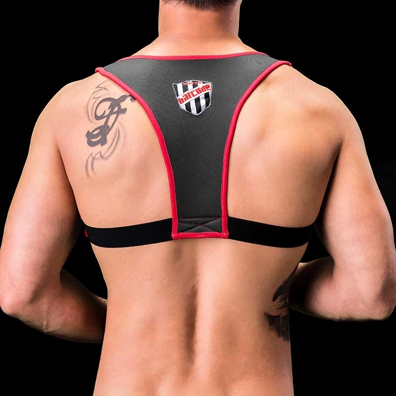 BARCODE Berlin NEOPREN HARNESS Tank GAEL fight club 91193 XXX RED