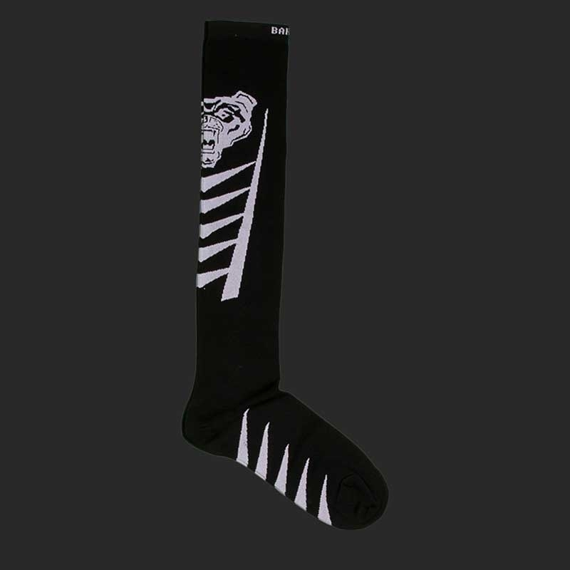 BARCODE Berlin KNIE STRUMPF football socken Lion Walk 91221 underground fight club black white