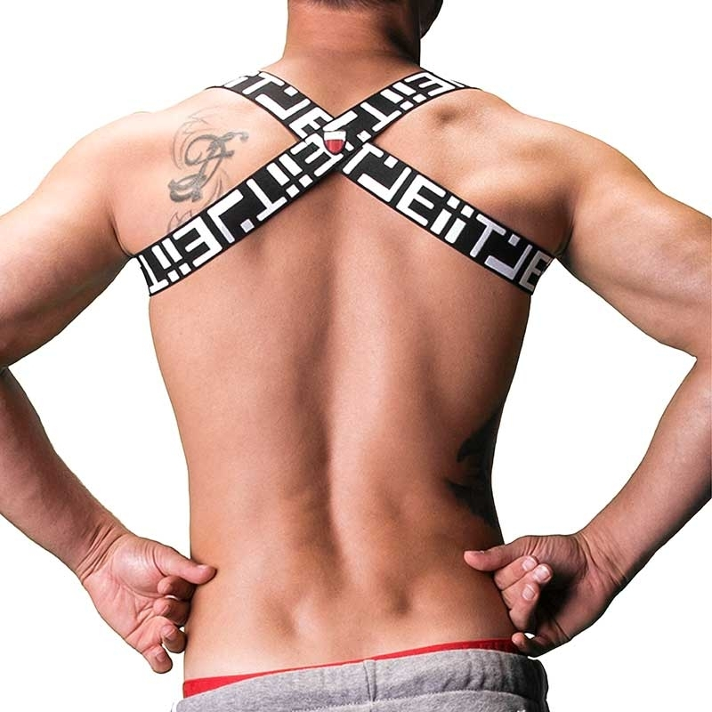 BARCODE Berlin sport harness TANKO 91163 Brust fitness black-white