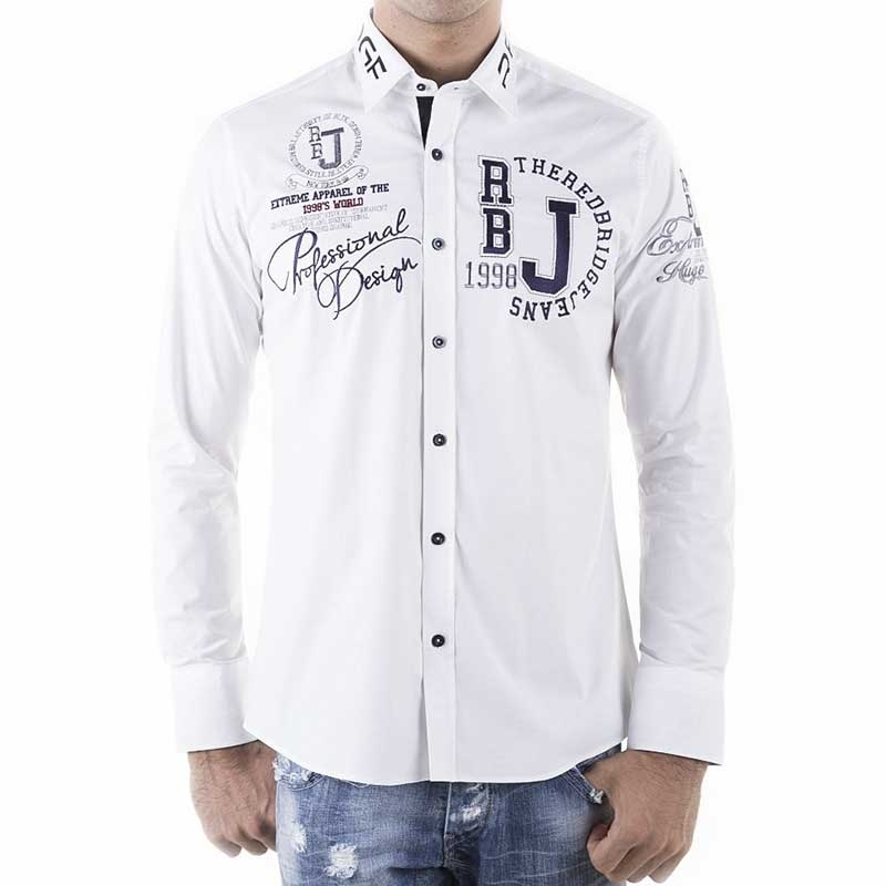 RED BRIDGE HEMD slim Fit R-2131 langarm tailliert bodystyle white