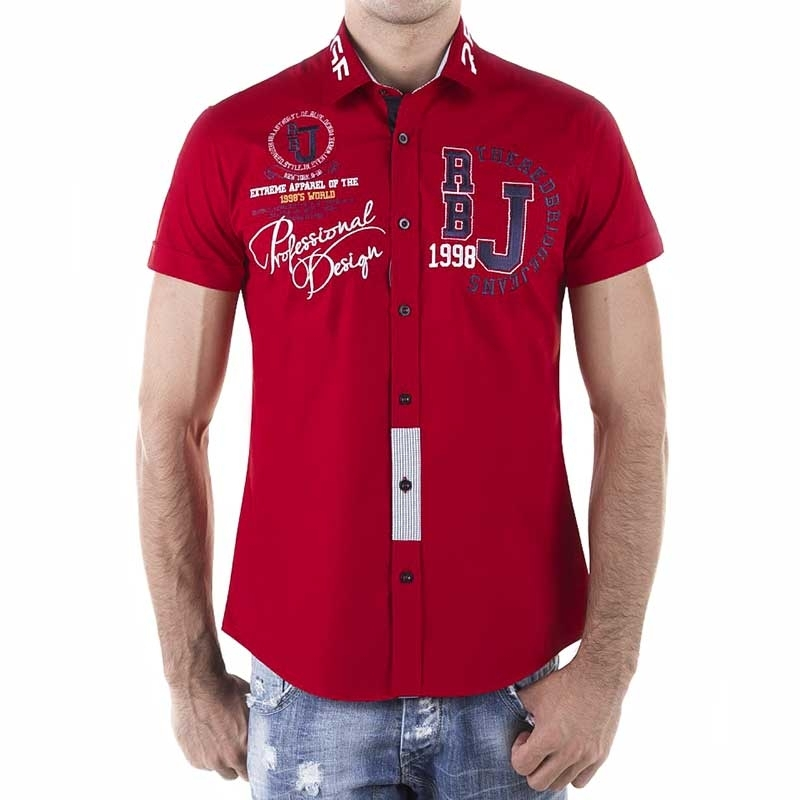 RED BRIDGE DRESS SHIRT R-2123 with short sleeve cut