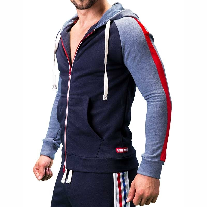 BARCODE Berlin SWEATJACKE comfort FINN Action 91205 Boxing navy