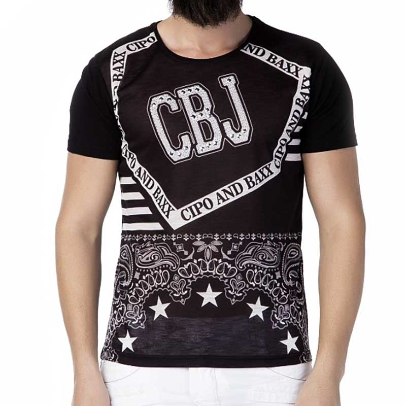 6cc1911832f72c CIPO and BAXX T-SHIRT CT178 Reissverschluss seitlich. Loading zoom
