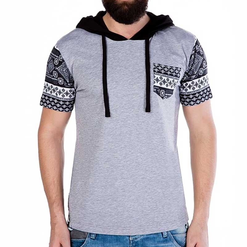 CIPO and BAXX T-SHIRT Regular Fit WINTER Hoody CT193 Frost grey