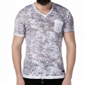 CIPO and BAXX T-SHIRT Regular Fit FLORIAN Washed CT200 Old School Anthracite