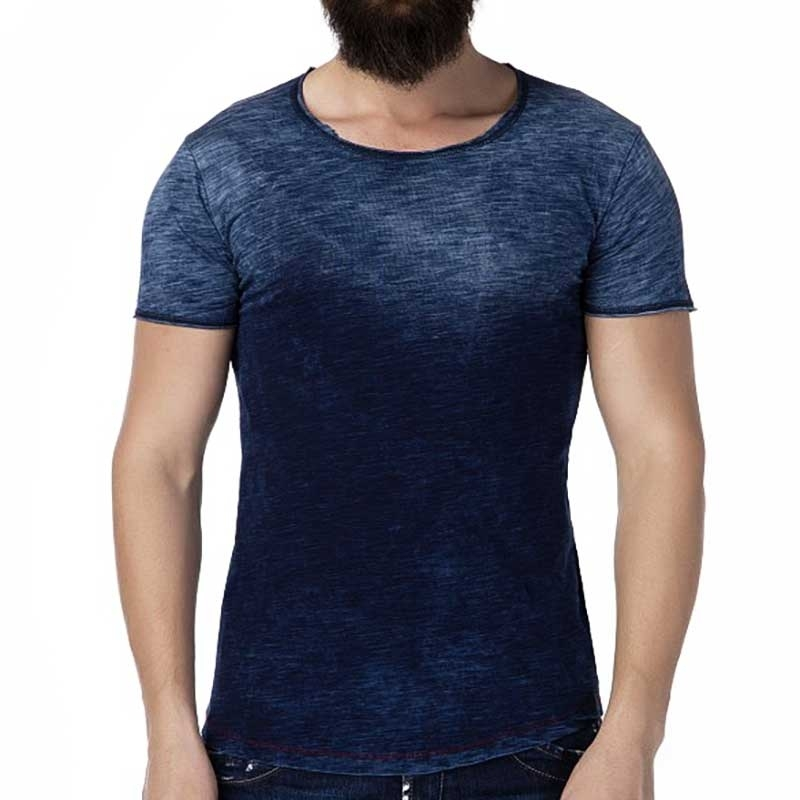 CIPO and BAXX T-SHIRT Slim Fit ALVIN Muscle CT225 Player indigo